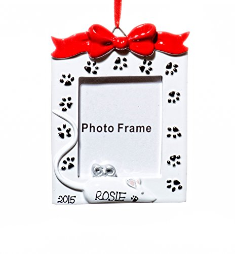 Picture Frame Christmas Holiday Cat Frame Ornament-Free Name Personalized-Shipped In One Day
