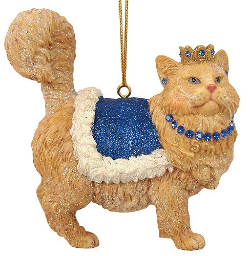December Diamonds Royal Spoiled Kitty Cat Christmas Ornament