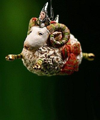 Patience Brewster Mini Ornament – Joyful Ram