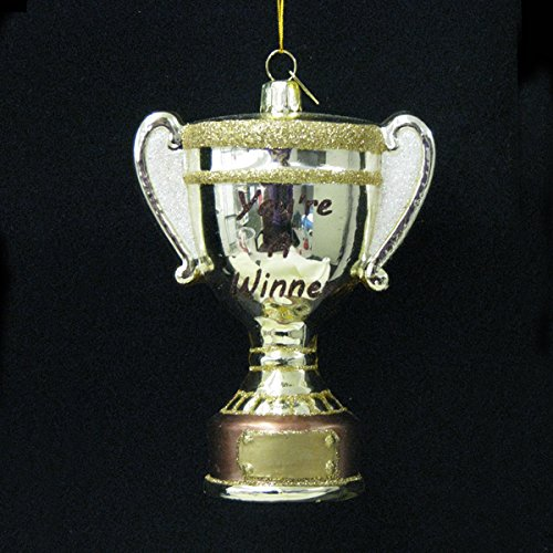 Kurt Adler 4.5″ Noble Gems Glass Trophy Ornament