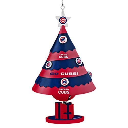 MLB Chicago Cubs Tree Bell Ornament, Blue, 5″