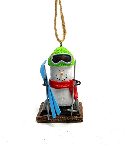 Winter Sports S'mores Ornaments (Skier)