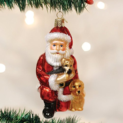 Old World Christmas Santa's Best Friends Glass Blown Ornament