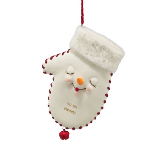 Department 56 Snow Pinions Oh So Sweet Mitten Ornament, 4.5-Inch