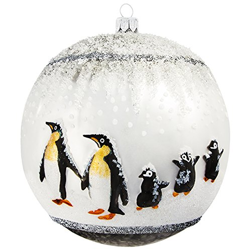 Glitterazzi Penguin Family Ball Ornament by Joy to the World