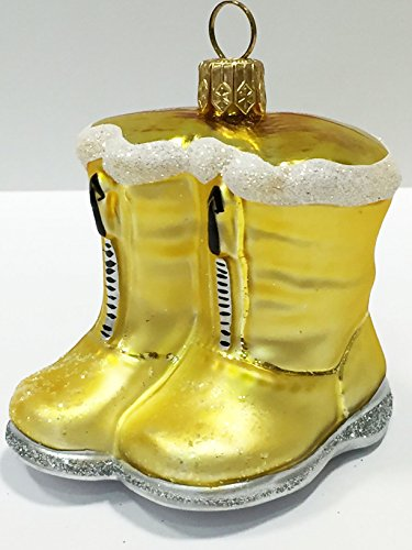 Ornaments to Remember: RAIN BOOTS (Yellow) Christmas Ornament