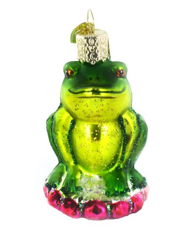 Old World Christmas Smug Mug Frog Christmas Ornament