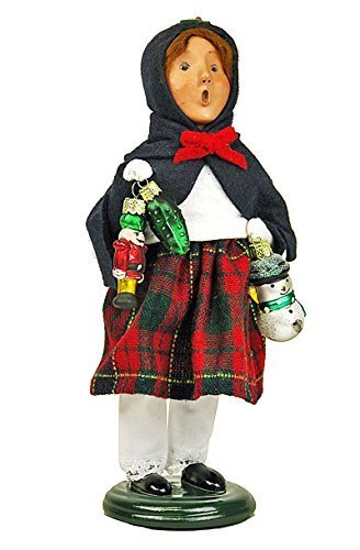 Byers Choice Caroler – Girl with Glass Ornaments – Christmas Decoration by Kensington Row Christmas Collection [並行輸入品]