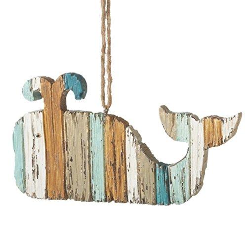Beachy Whale Ornament
