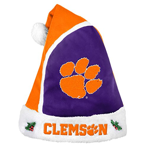 Forever Collectibles – NCAA 2015 Santa Hat, Clemson University Tigers