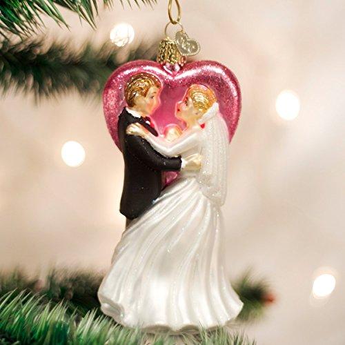 Old World Christmas Wedding Dancers Glass Blown Ornament