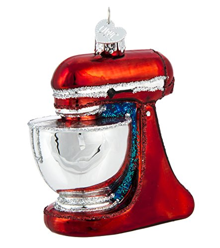 ld World Christmas – Stand Mixer Ornament – Hand Painted Blown Glass – For Fake and Real Trees