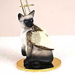 CAT SIAMESE MINIATURE Angel Christmas Ornament NEW CTA18