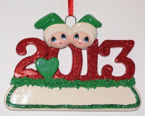 2013 Family 2 Personalized Christmas Tree Ornament