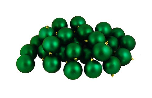 60ct Shiny Xmas Green Shatterproof Christmas Ball Ornaments 2.5″ (60mm)