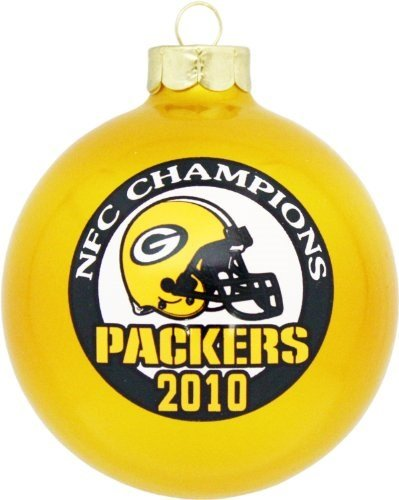 Green Bay Packers 2010 NFC Champions Round Gold Ornament