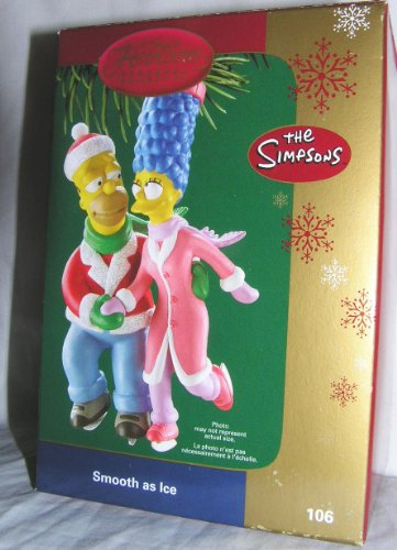 2006 Carlton Heirloom Simpsons Homer and Marge Smooth as Ice Christmas Ornament