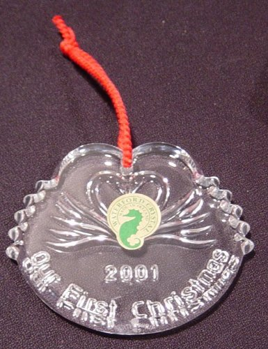 Waterford Crystal 2001 First Christmas Together Ornament