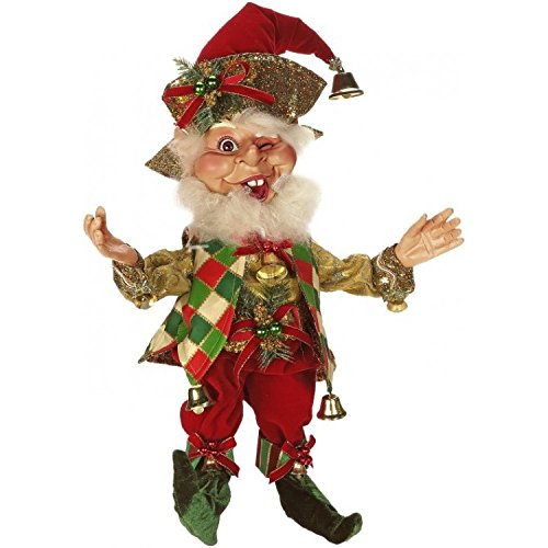 Mark Roberts Elves, Bell Ringer Elf, Medium 17 Inches Packaged with an Official Mark Robert Gift Bag