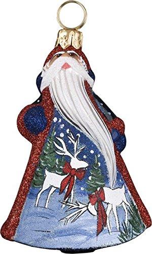 Glitterazzi Mini Santa with Reindeer Scene Ornament by Joy to the World