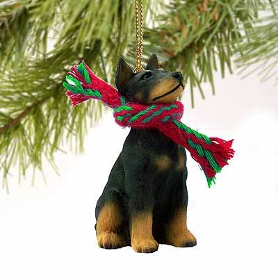 Doberman Pinscher Miniature Dog Ornament – Black & Tan