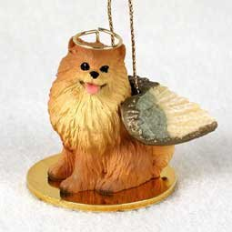 Pomeranian (red) Dog Angel Figurine by Conversation Concepts