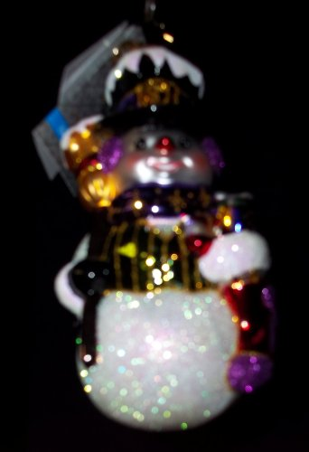 Christopher Radko Purple Ribbon Pal Ornament