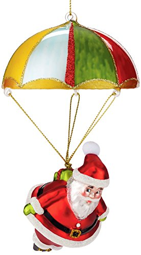Department 56 Here Comes Santa Claus Parachuting Ornament