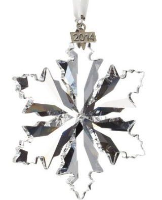 Annual Edition 2014 Crystal Snowflake Ornament with Swarovski Elements Gift for Mother's Day, Valentine's Day, Chrismas
