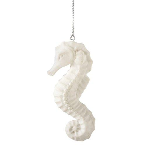 White Seahorse Ornament