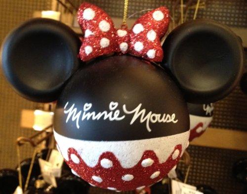 Disney Parks Minnie Mouse Glitter Ornament – Disney Parks Exclusive & Limited Availability