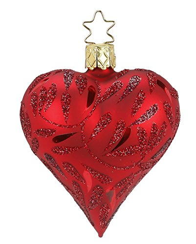 Heart Delights, red matt, #20084T040, from the 2015 Red Celebration Collection by Inge-Glas Manufaktur; Gift Box Included