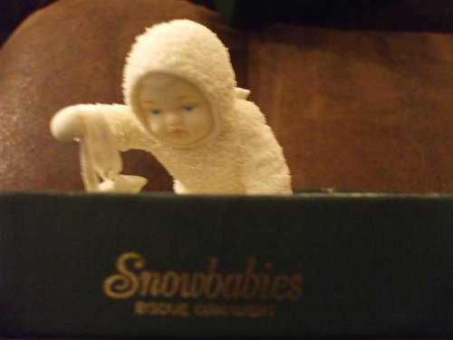 """Snowbabies Bisque Ornament """" Sprinkling Stars in the Sky"""""""