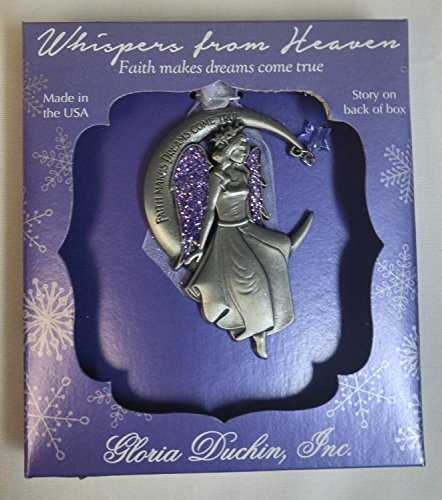 Christmas Tree Ornament Angel Whispers From Heaven (Purple Package)