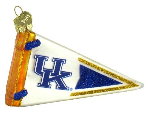 Old World Christmas Kentucky Pennant Glass Blown Ornament