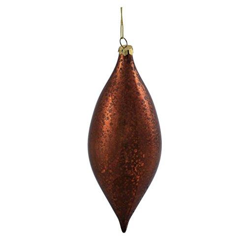 Vickerman 378052 – 7″ Copper Shiny Mercury Drop Christmas Tree Ornament (4 pack) (M155428)