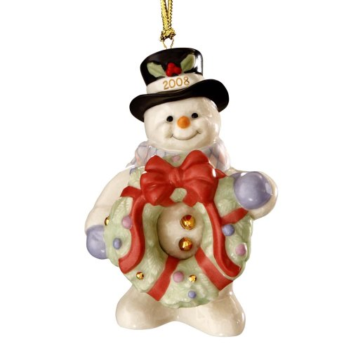 Lenox 2008 Decorating for Christmas – Annual Snowman Ornament
