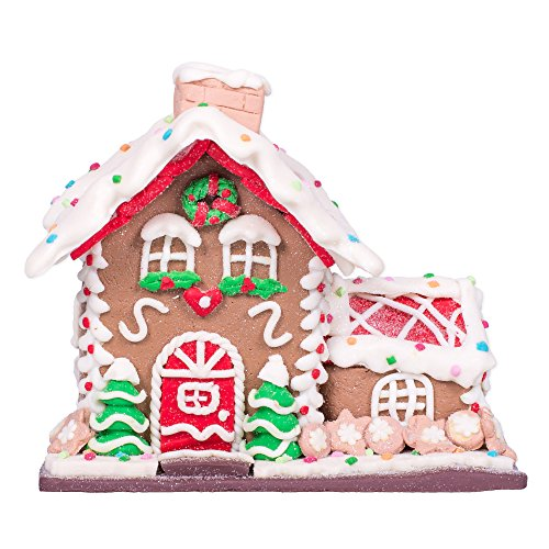 Gingerbread House with Trees Christmas Decoration by Raz Imports