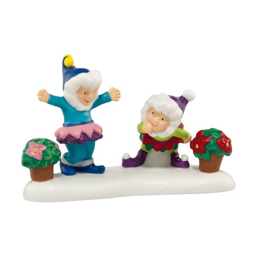 Department 56 North Pole Series Village A Bloomin' Merry Christmas Village Accessory, 1-3/4-Inch