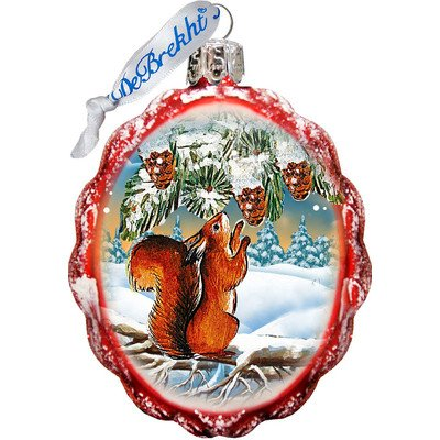 G. Debrekht Squirrel Glass Ornament