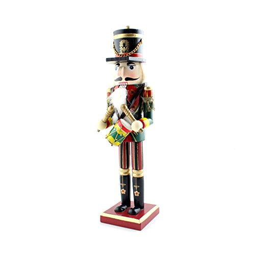 Medaa Nutcracker Puppet Wooden Soldier Toys Dolls Christmas Ornaments Decor Holiday Decoration Gifts (Drummer)