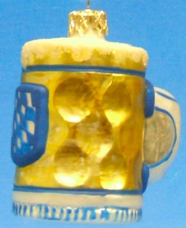 Octoberfest Beer Mug Glass Christmas Tree Ornament