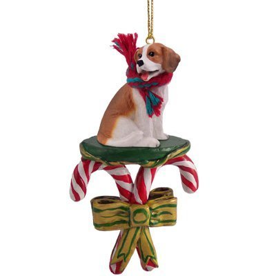 1 X Beagle Candy Cane Christmas Ornament by Conversation Concepts