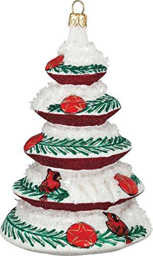 Glitterazzi Cardinal Tree Ornament by Joy to the World