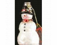 Cobane Studio LLC Rustic Snowman Ornament by Cobane Studio LLC