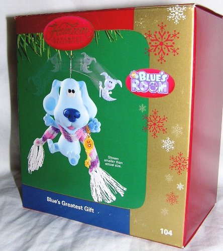 "2004 Carlton Heirloom Blues Clues ""Blue's Greatest Gift"" Christmas Ornament"