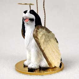 1 X Springer Spaniel Angel Dog Ornament – Black & White by Conversation Concepts