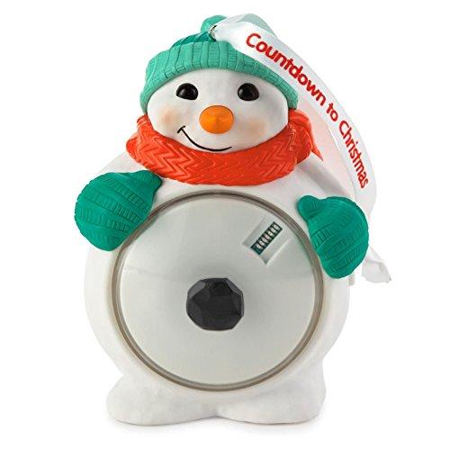 Countdown to Christmas Snowman Ornament 2015 Hallmark
