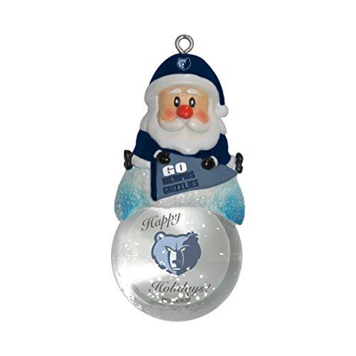 NBA Memphis Grizzlies Snow Globe Ornament, Silver, 1.5″