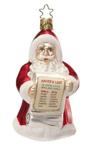 Santa's Best List, #1-081-13, by Inge-Glas of Germany